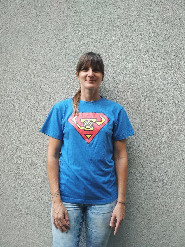 SuperSparta triko azurově modré